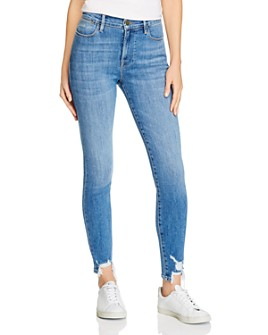 FRAME - Le High Skinny Chewed-Hem Jeans in Sonoma Chew - 100% Exclusive