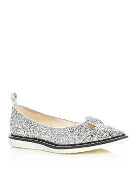 MARC JACOBS - Women's The Mouse Shoe Glitter Pointed-Toe Flats