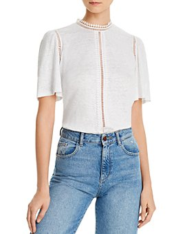 Rebecca Taylor - Lace Cutout Top
