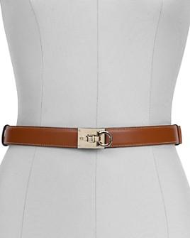 Salvatore Ferragamo - Women's Studio Lock Leather Belt