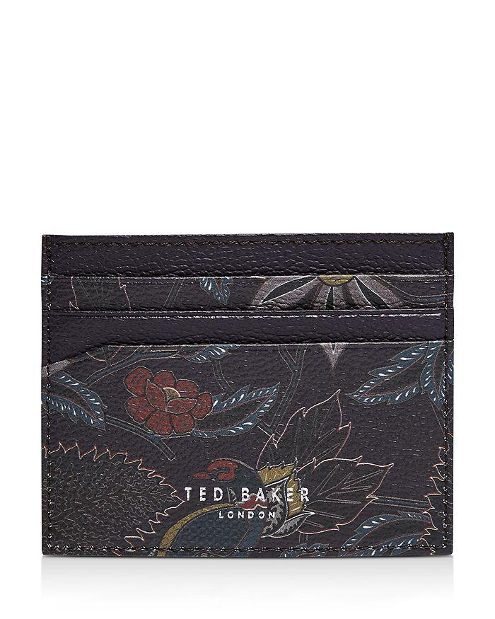 Ted Baker - Leather Jacquard Print Cardholder