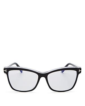 Tom Ford Women's Square Blue Light Glasses, 55mm