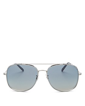 Oliver Peoples - Men's Brow Bar Aviator Sunglasses, 54mm