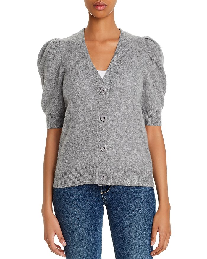 C by Bloomingdale's - Cashmere Puff-Sleeve Cardigan - 100% Exclusive