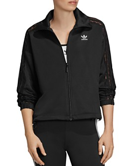 Adidas - Lace-Inset Triple-Stripe Track Jacket