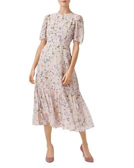 HOBBS LONDON - Blossom Silk Midi Dress