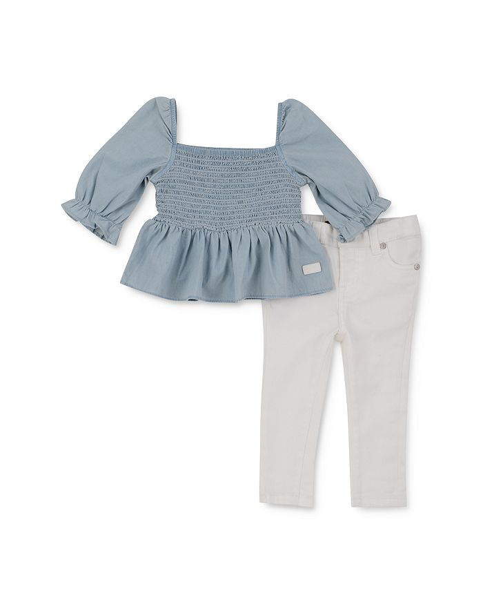 7 For All Mankind - Girls' Smocked Top & Jeans Set - Baby
