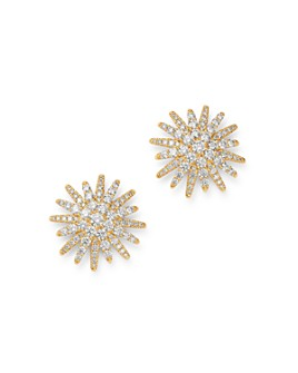 David Yurman - 18K Yellow Gold Diamond Starburst Stud Earrings