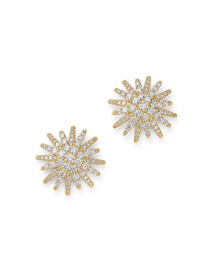 David Yurman - 18K Yellow Gold Diamond Starburst Stud Earrings