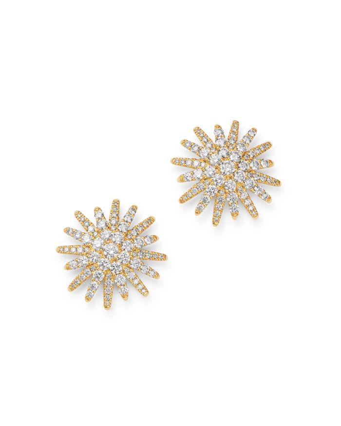 David Yurman 18K Yellow Gold Diamond Starburst Stud Earrings    Bloomingdale's