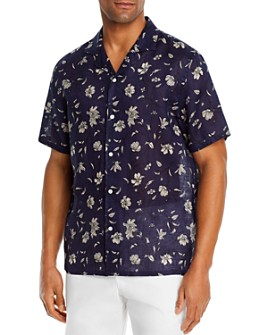 The Men's Store at Bloomingdale's - Linen Floral Classic Fit Camp Shirt