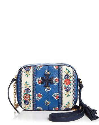 Tory Burch - McGraw Floral Leather Crossbody Camera Bag