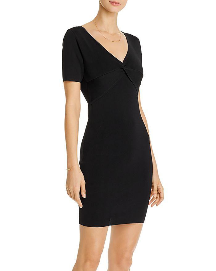 AQUA - Twist-Detail Mini Dress - 100% Exclusive