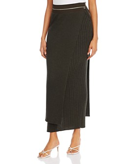 Helmut Lang - Ribbed Layered Skirt
