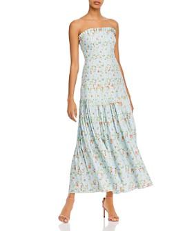Amur - Hiyori Strapless Floral-Print Dress