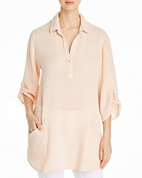 XCVI - Arden Puckered Gauze Tunic
