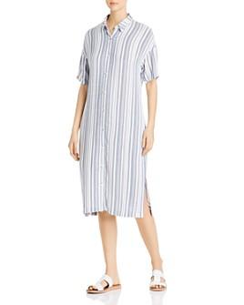 XCVI - Gael Striped Midi Shirt Dress