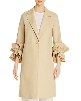 Lafayette 148 New York - Emmie Cotton & Linen Ruffled-Sleeve Coat