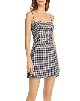 FRENCH CONNECTION - Belted Gingham Dress