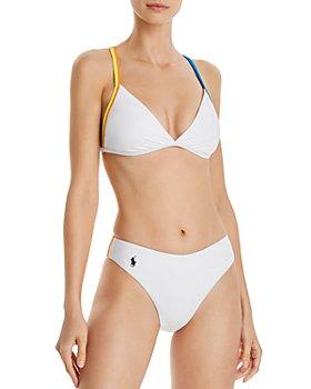 Polo Ralph Lauren - Racing Stripe Bikini Top & Racing Stripe Bikini Bottom