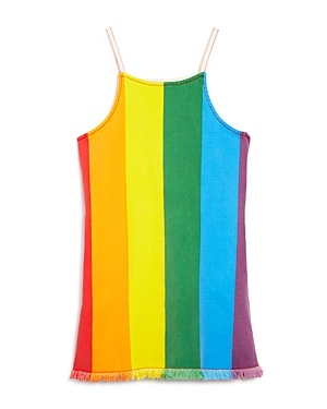 Stella McCartney Girls\\\' Rainbow Stripe Denim Dress - Little Kid, Big Kid