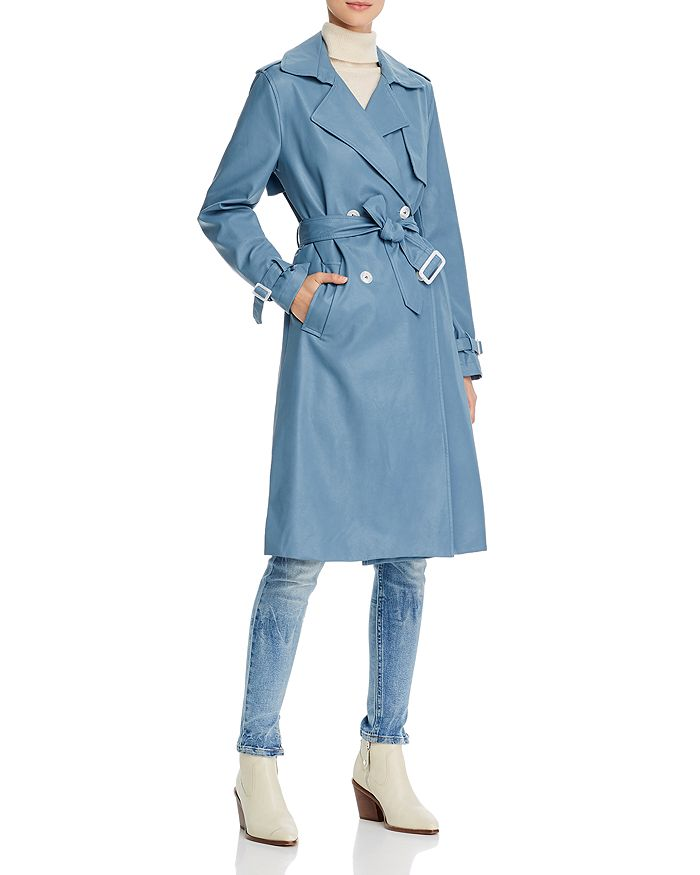 Apparis - Lucia Faux Leather Trench Coat
