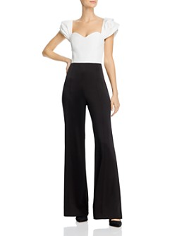 Alice and Olivia - Wide-Leg Ruffle-Sleeve Jumpsuit