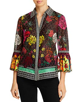 Alice and Olivia - Rivera Bell-Sleeve Blouse