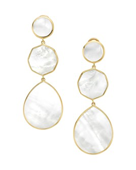 IPPOLITA - 18K Yellow Gold Polished Rock Candy Crazy 8s Mother-of-Pearl Clip-On Drop Earrings