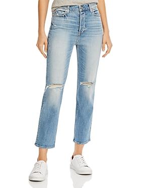 Paige Sarah Ripped Straight-Leg Jeans-Women
