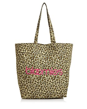 Bloomingdale's - Bloomies Leopard-Print Extra Large Canvas Tote - 100% Exclusive