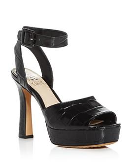 VINCE CAMUTO - Women's Kortinta Croc-Embossed Platform High-Heel Sandals