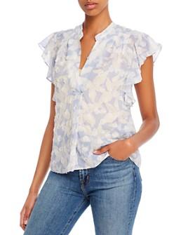 Joie - Ashtina Silk-Blend Printed Ruffled Blouse