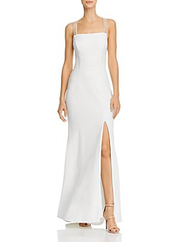 AQUA - Beaded-Strap Gown - 100% Exclusive