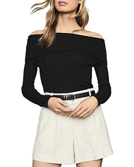 REISS - Off-The-Shoulder Long-Sleeve Top