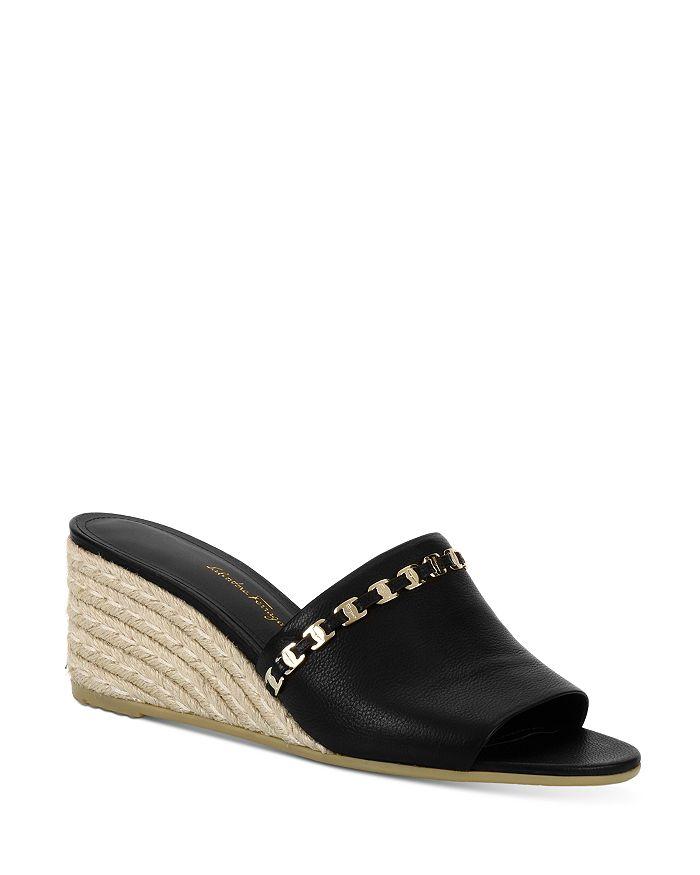 Salvatore Ferragamo - Women's Embellished Espadrille Wedge Sandals