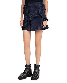 The Kooples - Delicate Paisley Ruffled Mini Skirt