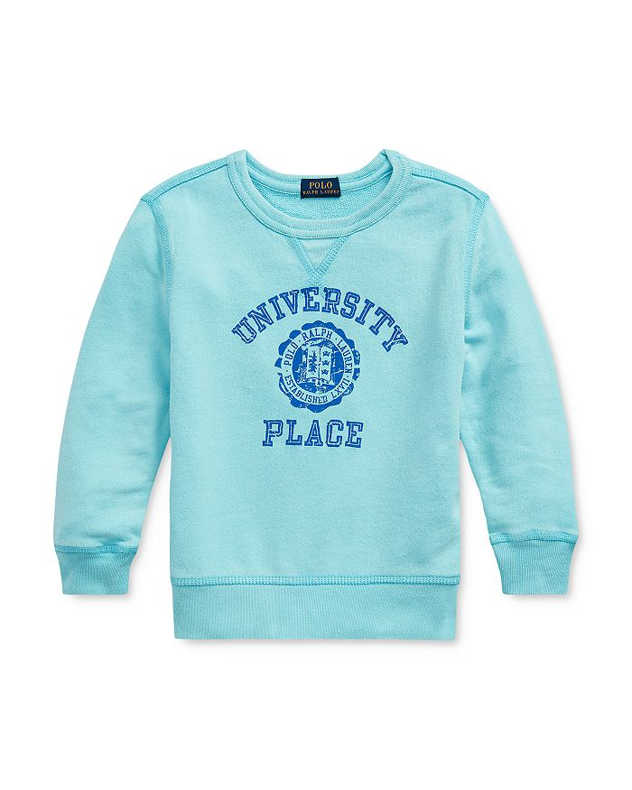 Ralph Lauren - Boys' University Place Logo French Terry Sweatshirt - Little Kid, Big Kid