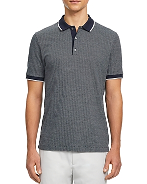 Theory Geo Knit Regular Fit Polo-Men