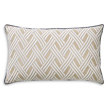 "Yves Delorme - Naussica Decorative Pillow, 12"" x 20"""