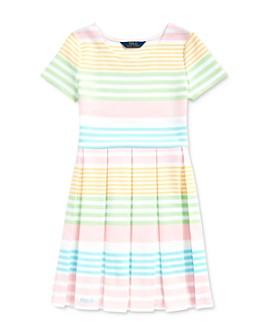 Ralph Lauren - Girls' Striped Ottoman-Rib Dress - Big Kid
