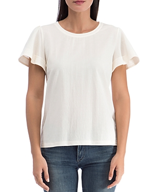 B Collection by Bobeau Ava Embroidered Stripe Top