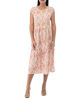 B Collection by Bobeau - Janelle Disc-Print Tee Dress