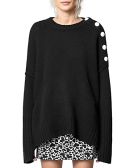 Zadig & Voltaire - Malta Button Cashmere Sweater