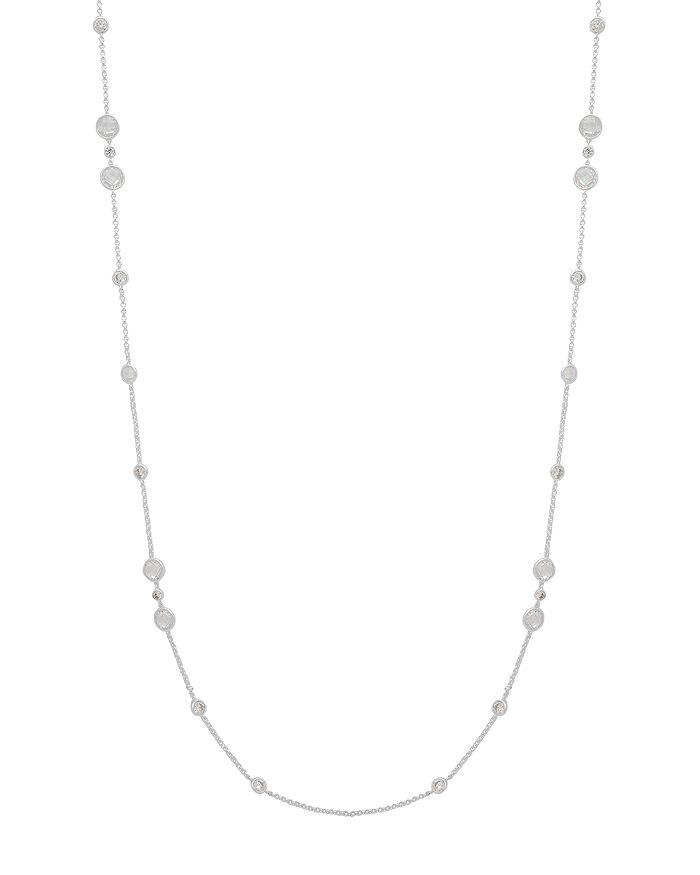 """Ralph Lauren - Cubic Zirconia Bezel Statement Strand Necklace, 42"""""""