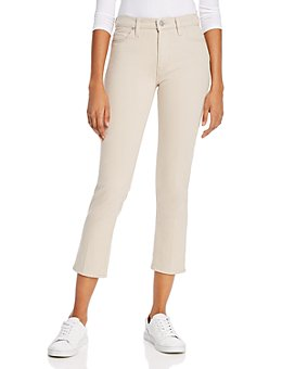Hudson - Barbara High-Rise Cropped Straight Jeans in Ivory