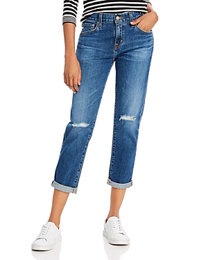 Ag Ex Bf High-Rise Cropped Slouchy-Slim Jeans in 11 Years Interrupted-Women