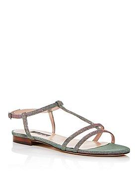 SJP by Sarah Jessica Parker - Women's Honoree Glitter T-Strap Sandals