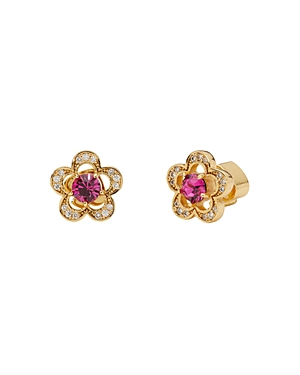 kate spade new york Jeweled Stencil Scallop Cubic Zirconia Stud Earrings