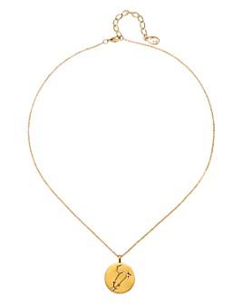 "Sequin - Celestial Zodiac Pavé Crystal Necklace, 16"""